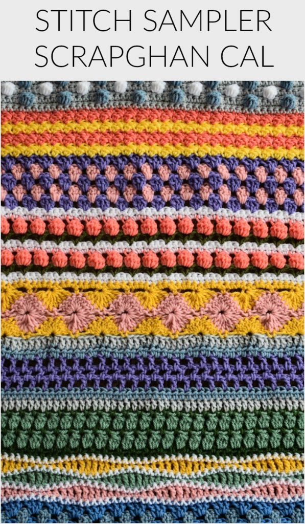 Stitch Sampler Scrapghan Crochet Along 2019
