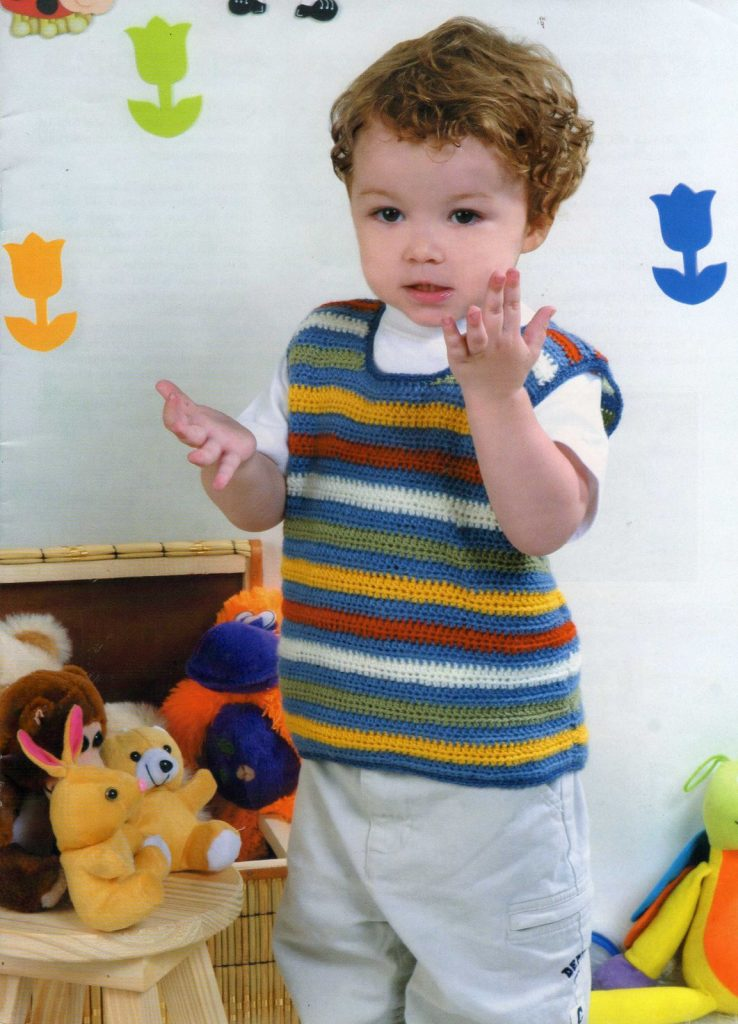 Crochet Pattern for a Vest for 2 Year Old