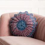 Free Crochet Pattern for a Round Pleated Pillow