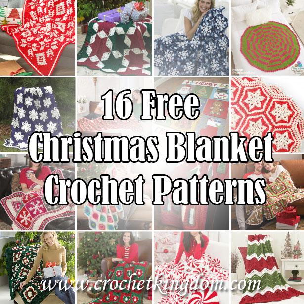 Free crochet Christmas Blankets
