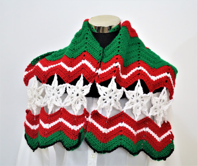 All about Christmas crochet scarf pattern