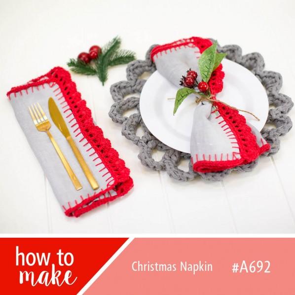 Christmas napkin crochet border pattern