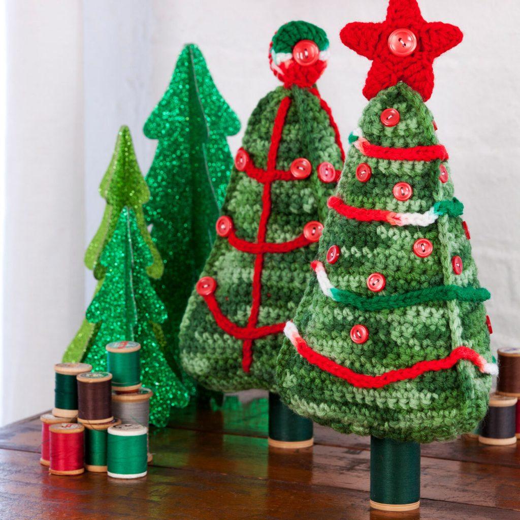 Christmas tree duo free crochet pattern