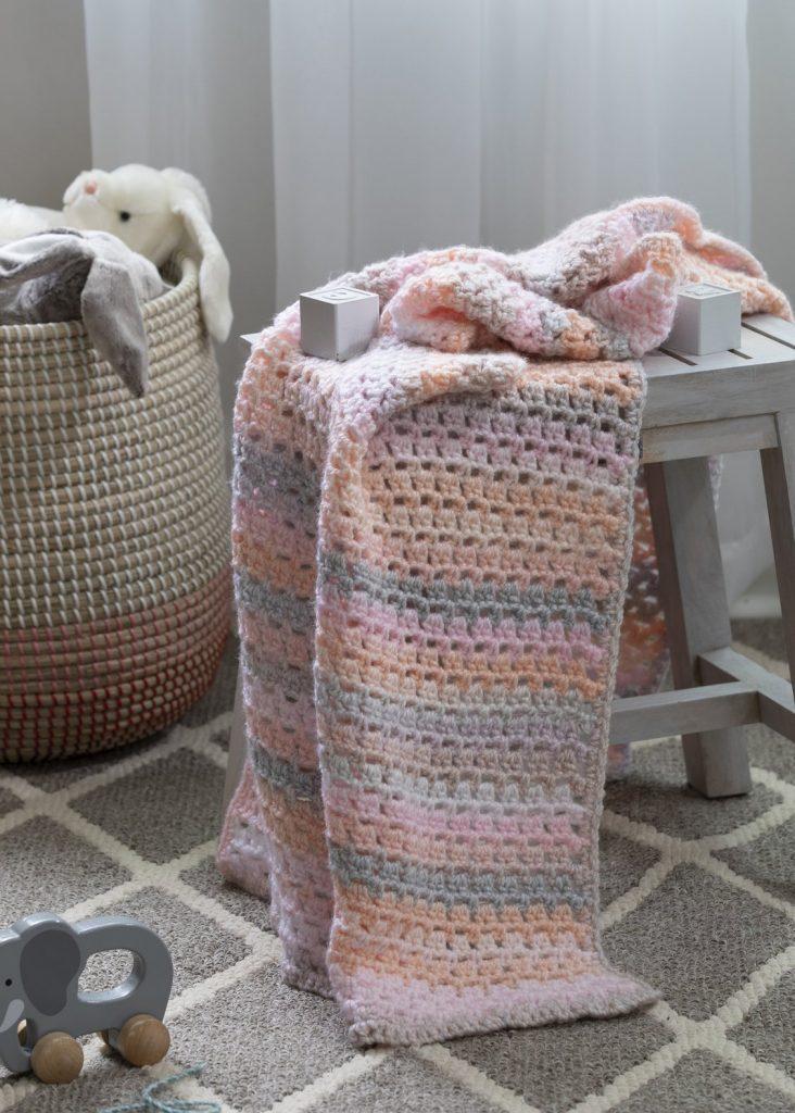Crochet aria baby blanket pattern