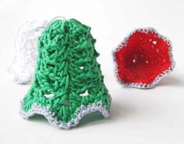 Crochet Christmas Bells Free Pattern