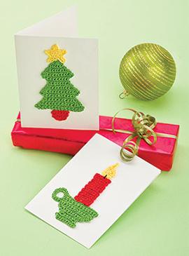 Crochet holiday greeting card pattern