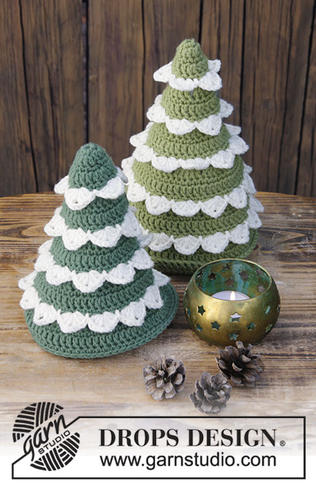 Crochet tree forest for Xmas pattern