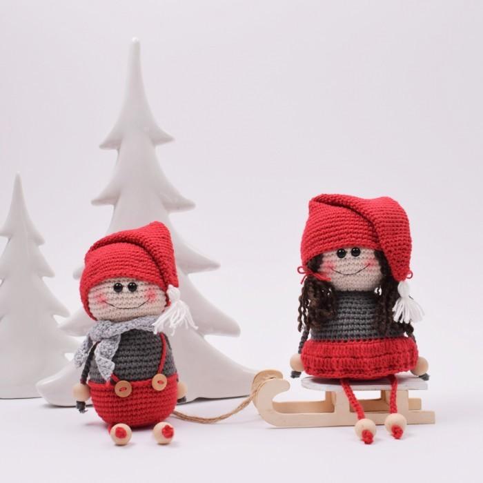 Crocheted Elf Couple pattern