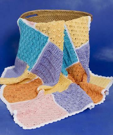 Crocheted Sampler Baby Blanket Free Pattern