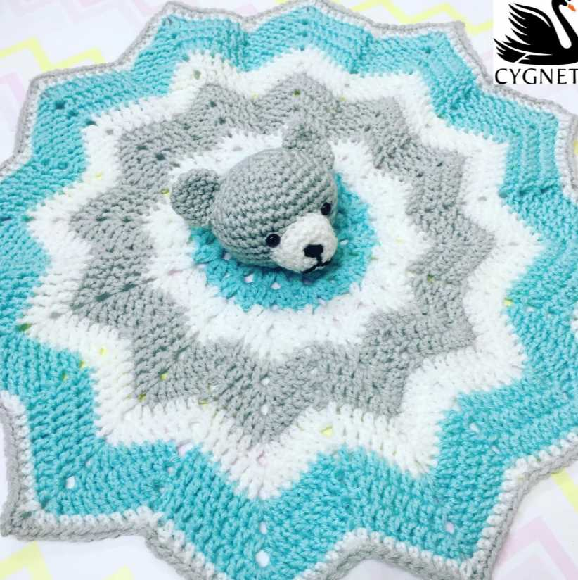 Cute baby comforter to crochet for free pattern