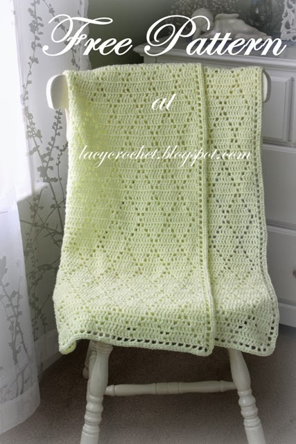 Diamond Stitch Baby Blanket, Free Pattern