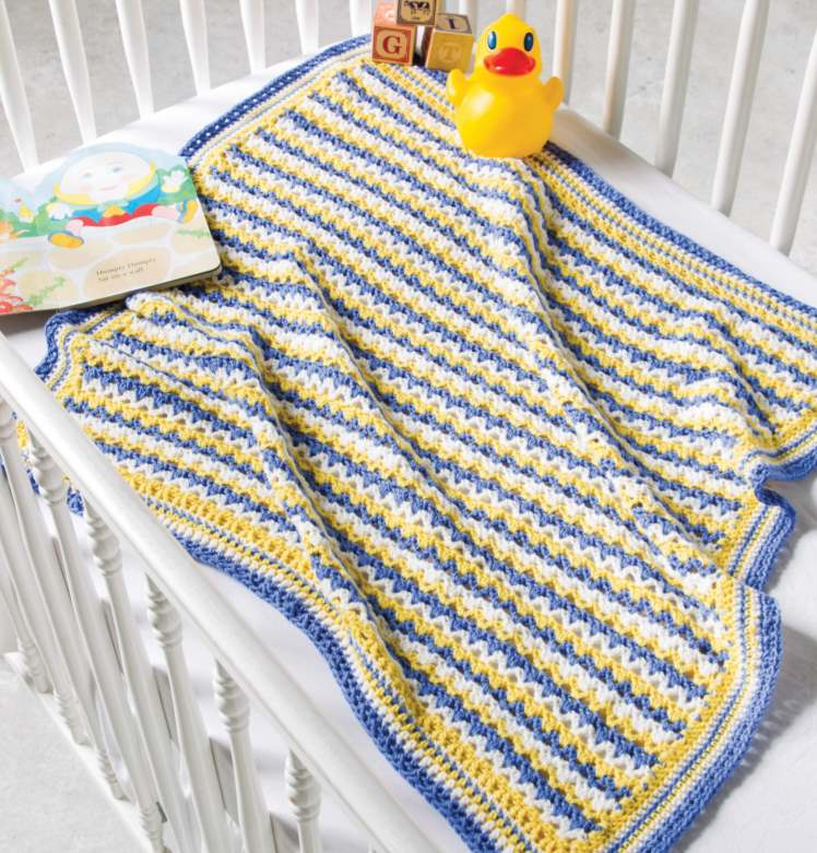 Fast and easy v stitch baby crochet blanket