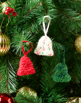 Easy bell ornament to crochet for the Xmas tree