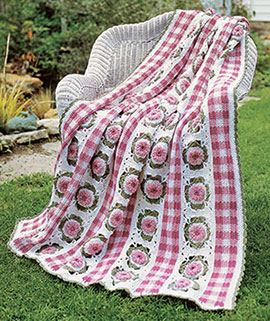Free Crochet Pattern for a Gingham Garden Blanket