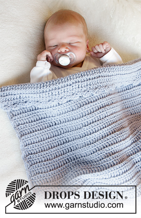 Treble and single crochet baby blanket pattern