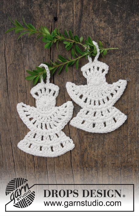 Free crochet Frozen Angels ornament for Christmas pattern
