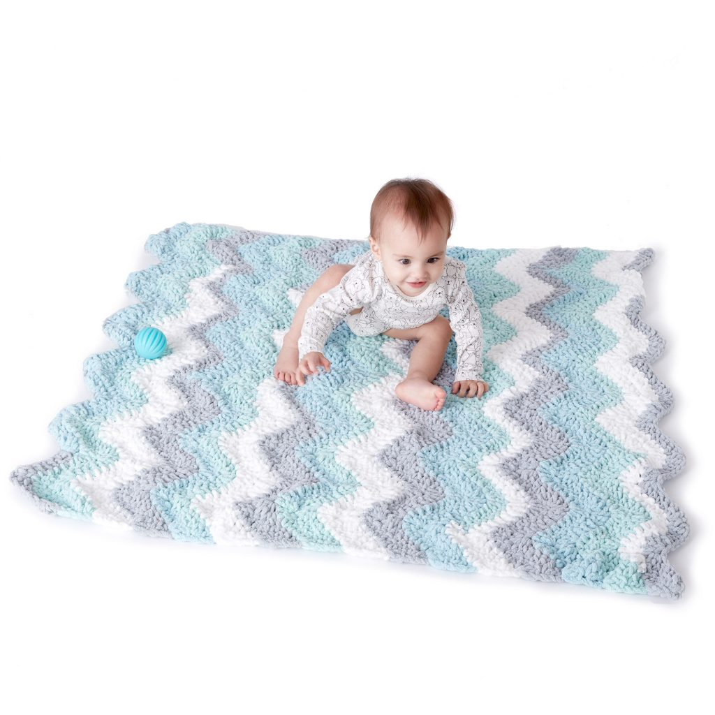 Free crochet chevron baby blanket pattern