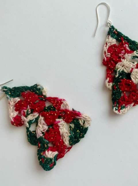 Free crochet christmas tree easring patterns