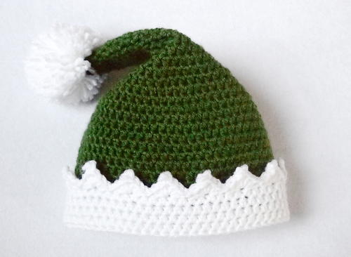 Free crochet elft hat pattern for baby and toddler