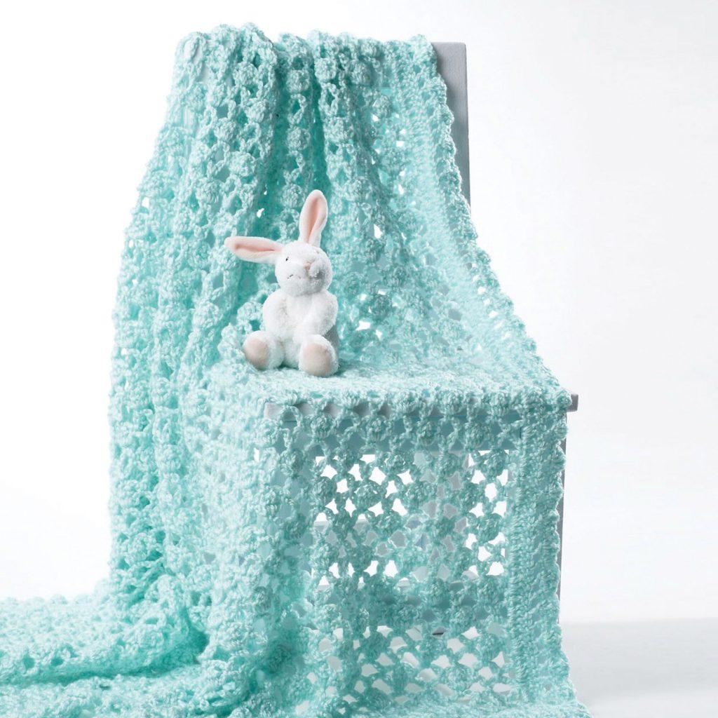 Free crochet lace baby blanket pattern