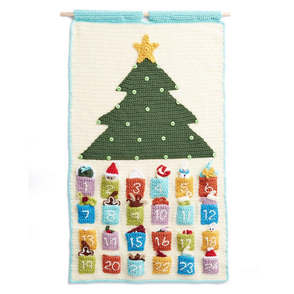 Free crochet pattern for a countdown advent calendar