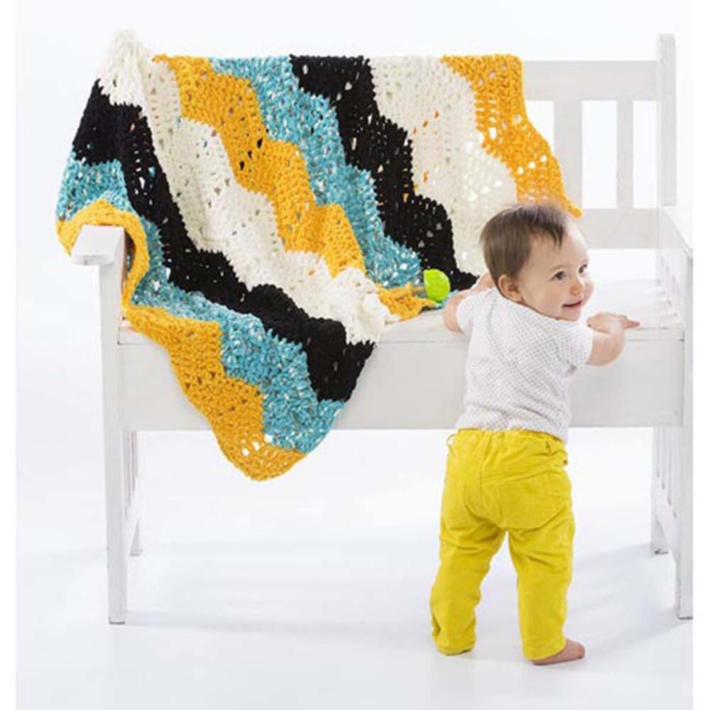 Free crochet pattern for a ripple blanket
