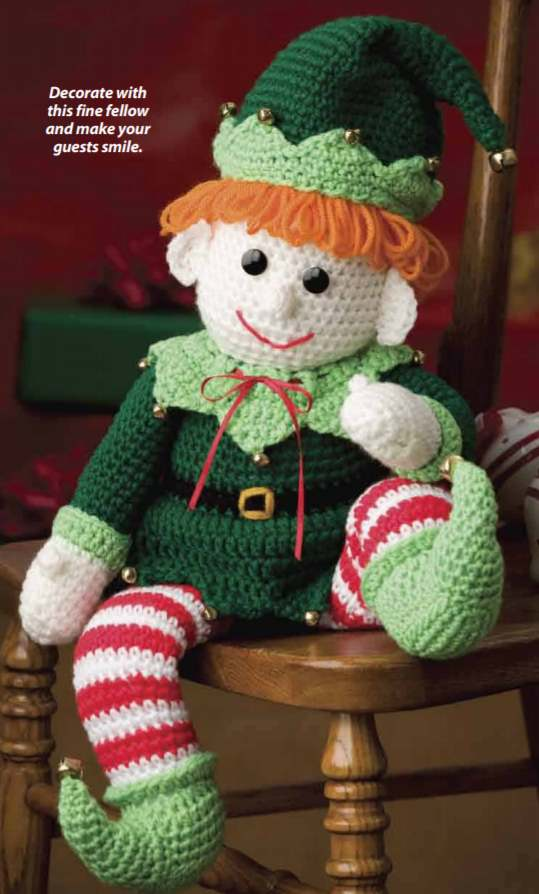 Free crochet pattern for jingles the Christmas elf