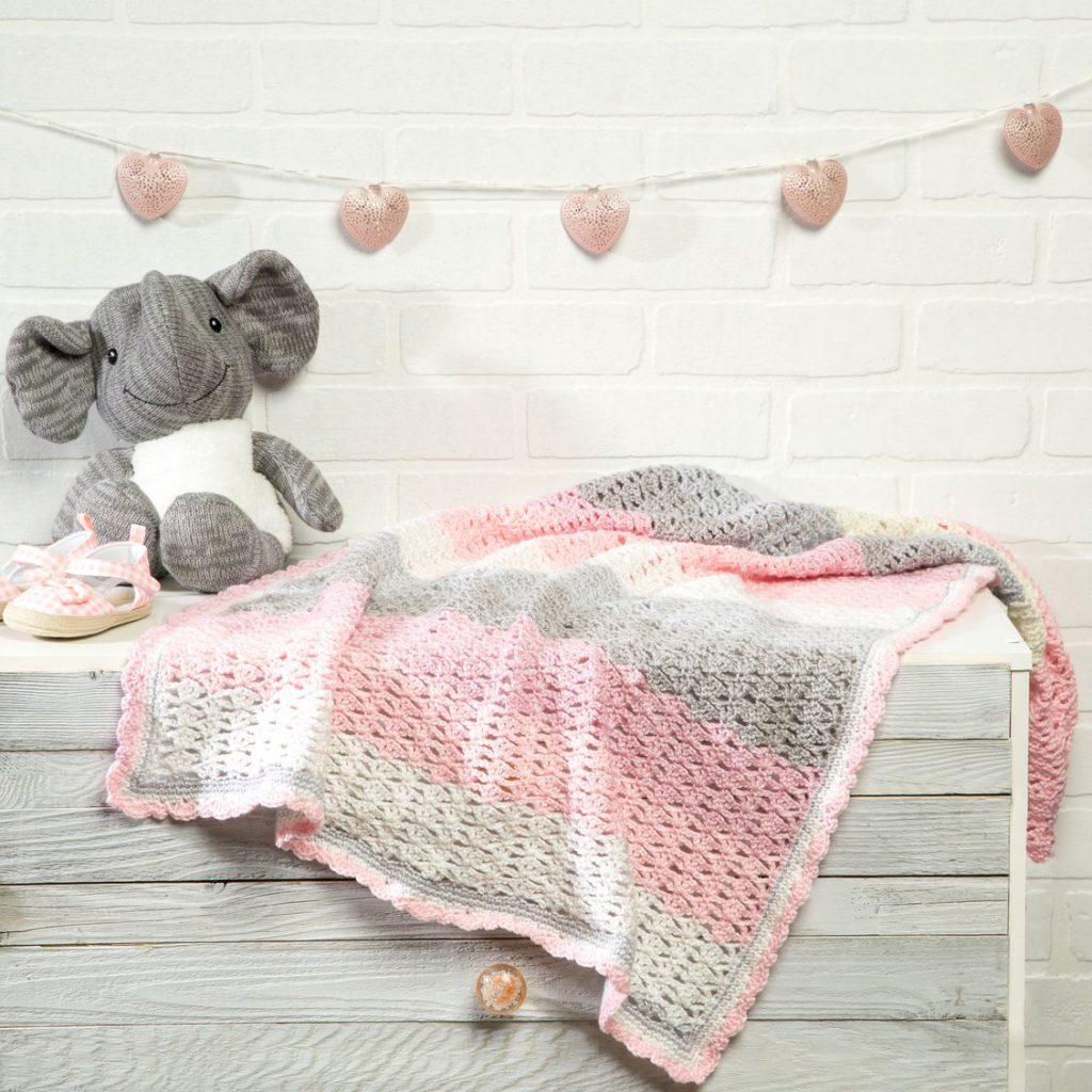 Free crochet thumbelina Baby blanket pattern