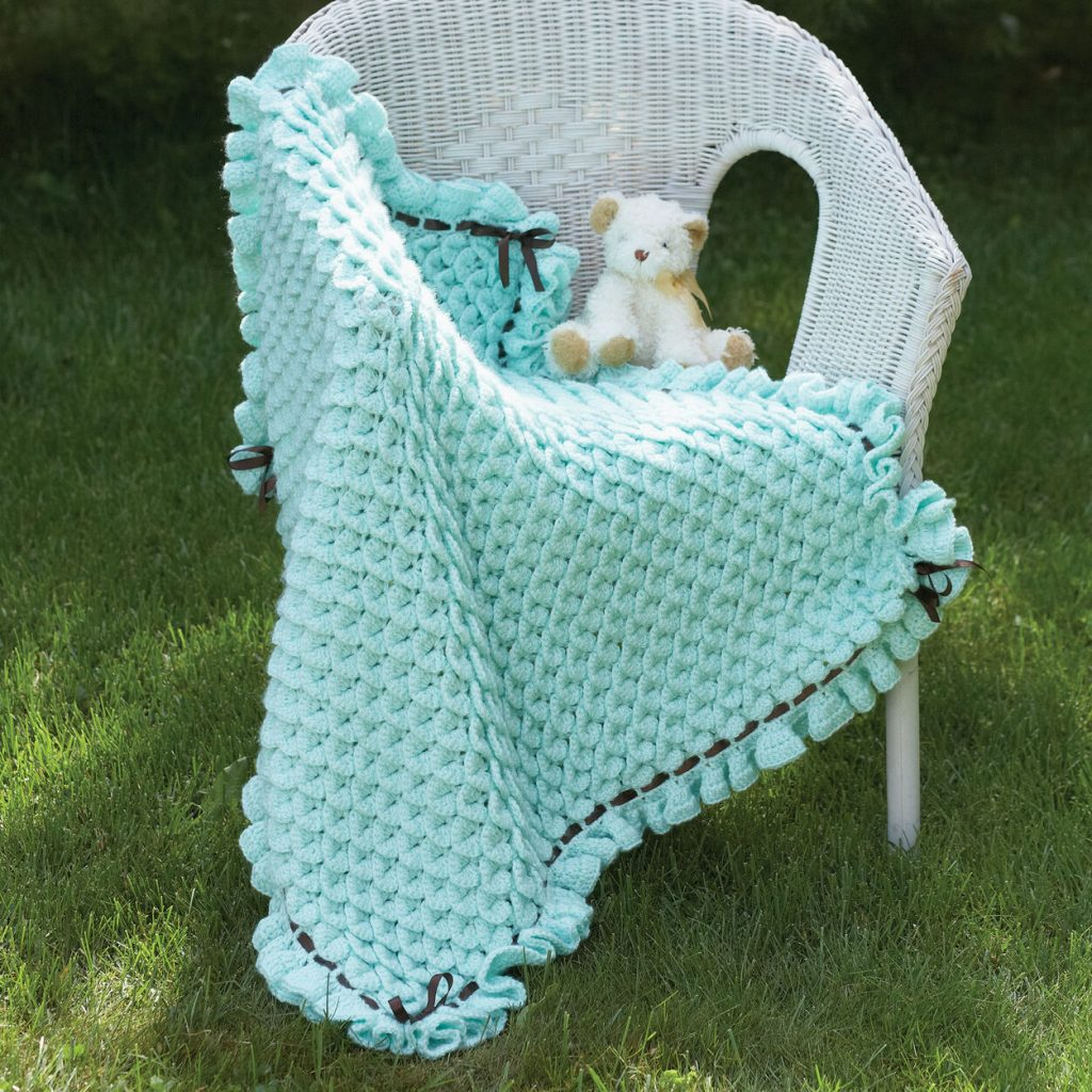 Free crocodile stitch baby blanket pattern