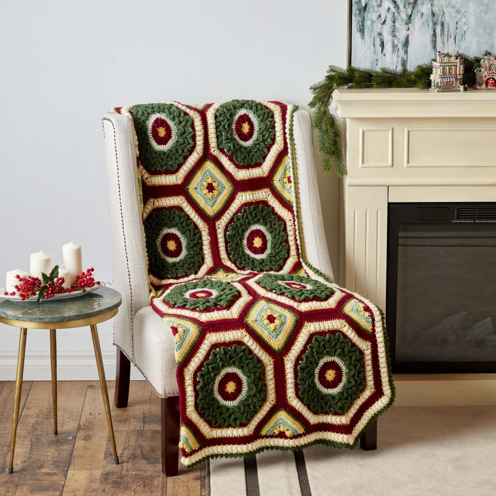 Free pattern for a crochet Christmas afghan
