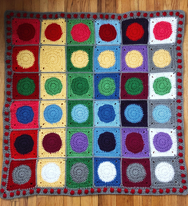 Hervé Tullet Inspired Color Mixing Baby Blanket