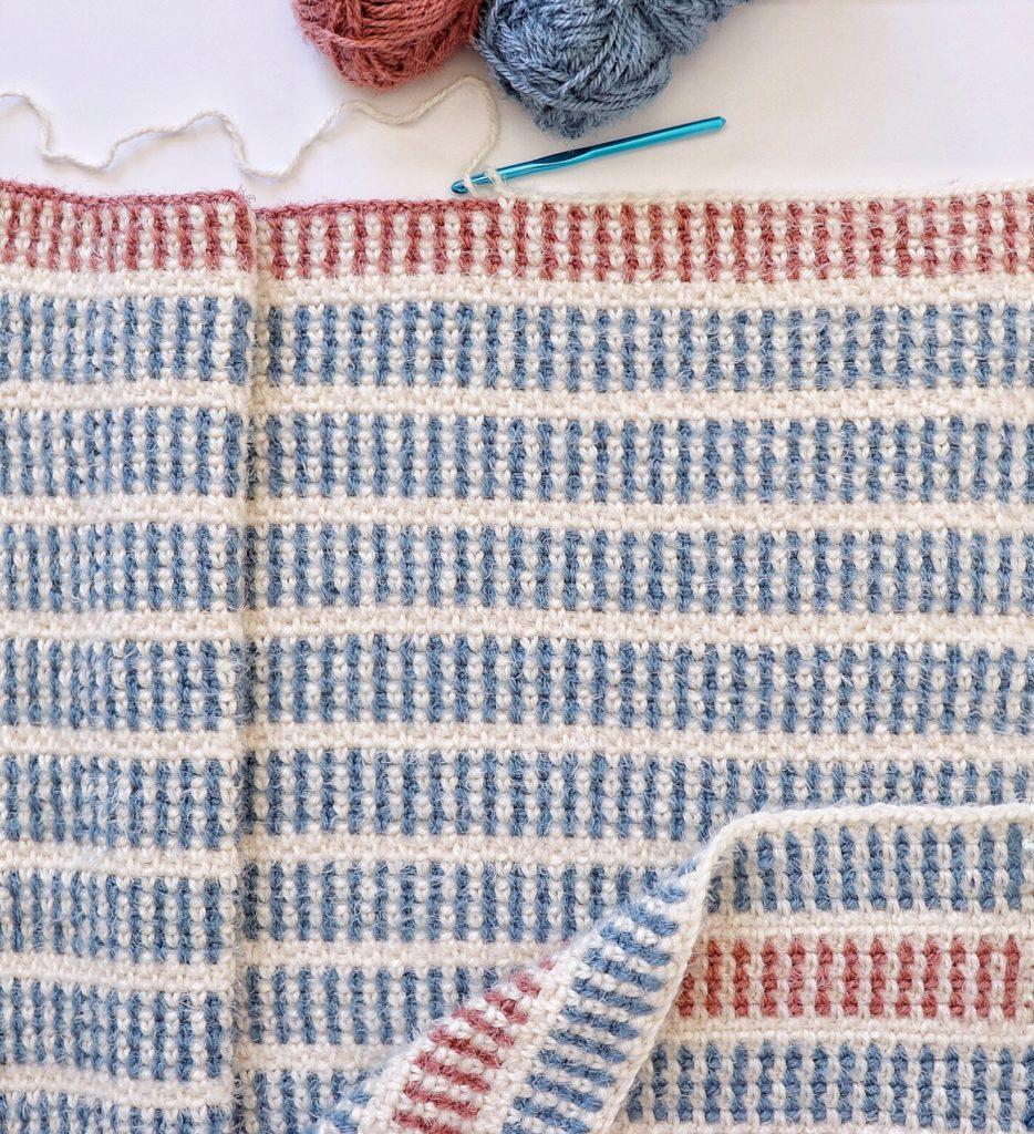 Hygge moss crochet baby blanket pattern