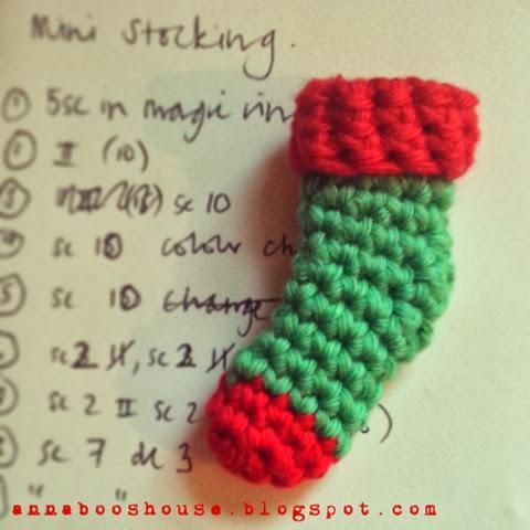Mini Crochet Stocking pattern