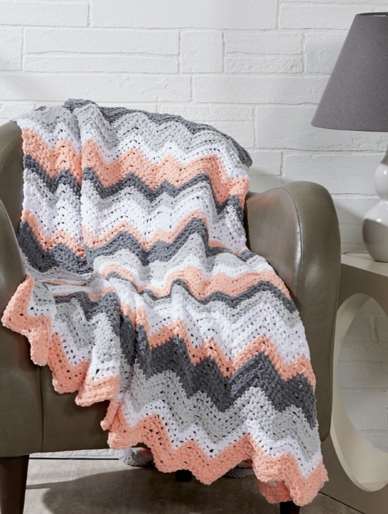Seismic blanket free crochet pattern for baby