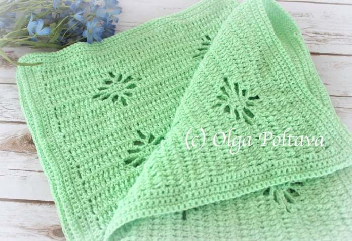 Simple Spider Stitch Blanket Crochet Pattern