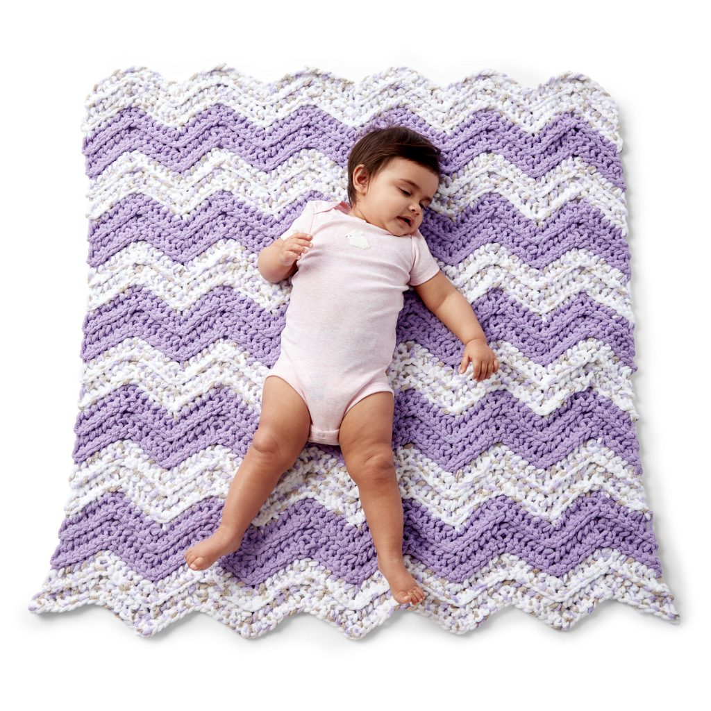Simple chevron baby blanket crochet pattern