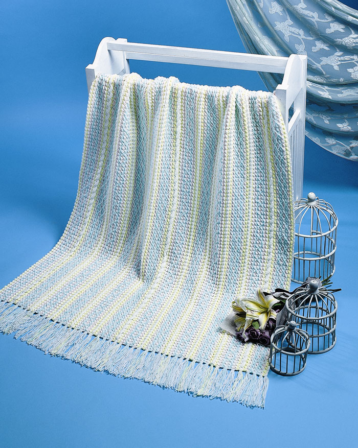 Swedish Embroidery Baby Blanket Pattern