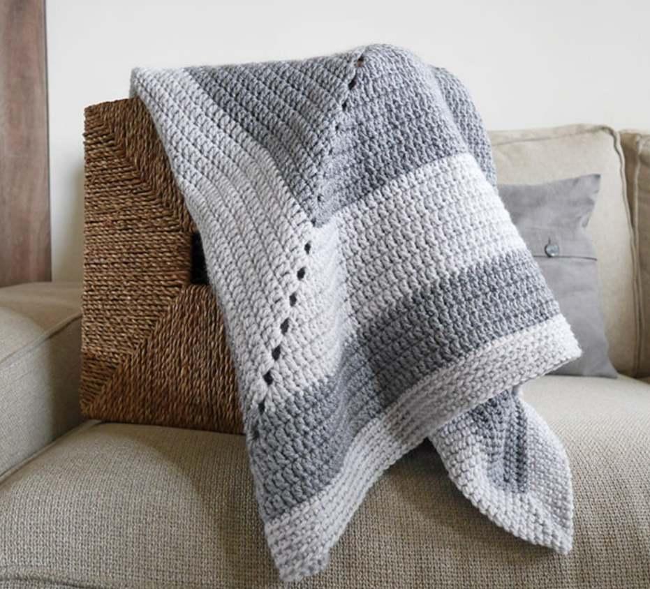 Vintage granny square baby blanket pattern