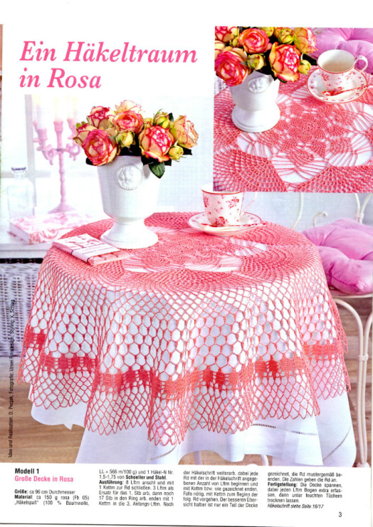 Tablecloth Crochet Patterns