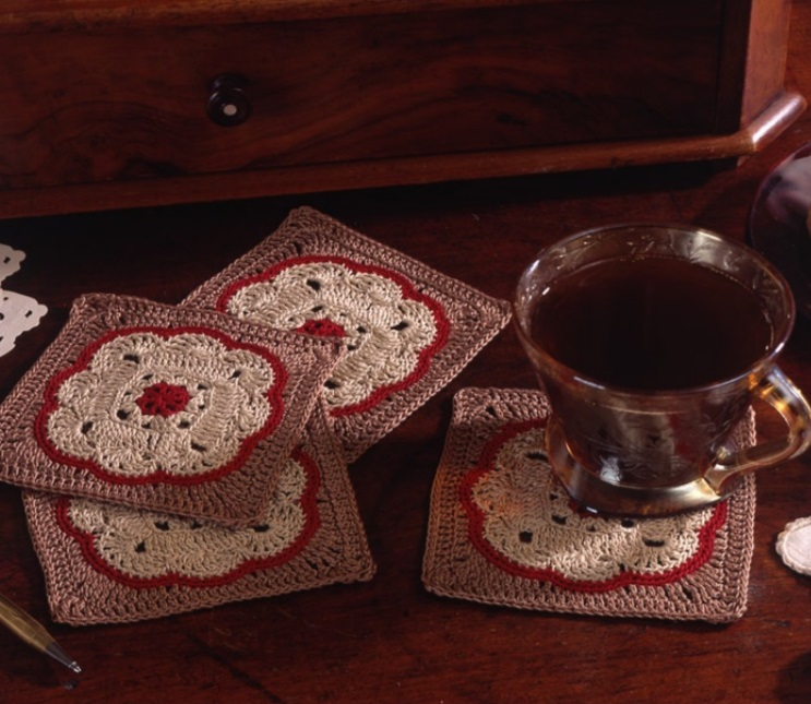 Free Crochet Pattern for a Moroccan Style Coaster