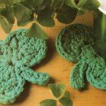 Free Crochet Pattern for a Shamrock Coaster