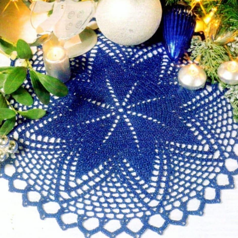 Circle star crochet doily