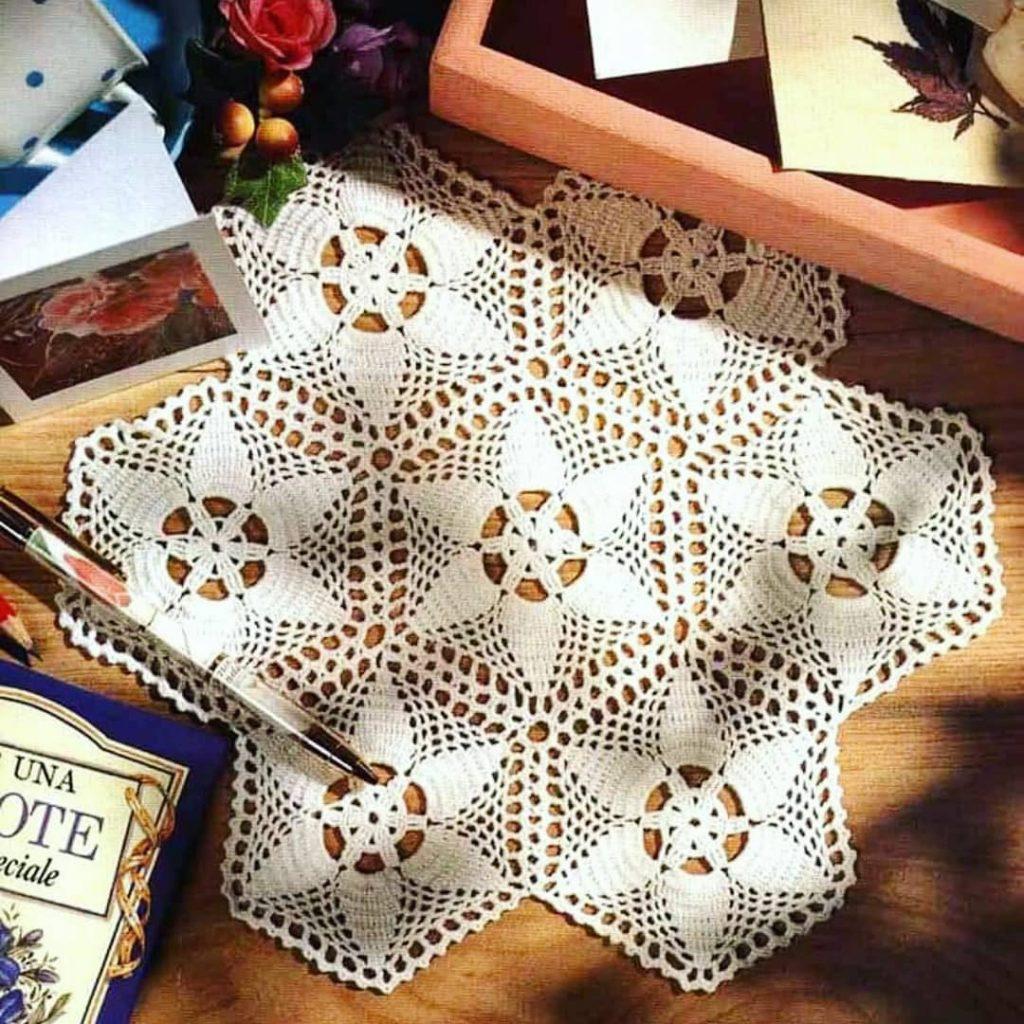 Flower hexagon doily crochet