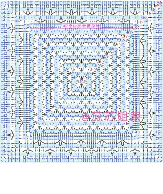 Square Crochet Diagrams