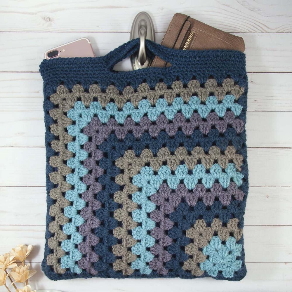 Crashing Waves Granny Tote Crochet Pattern Free Download