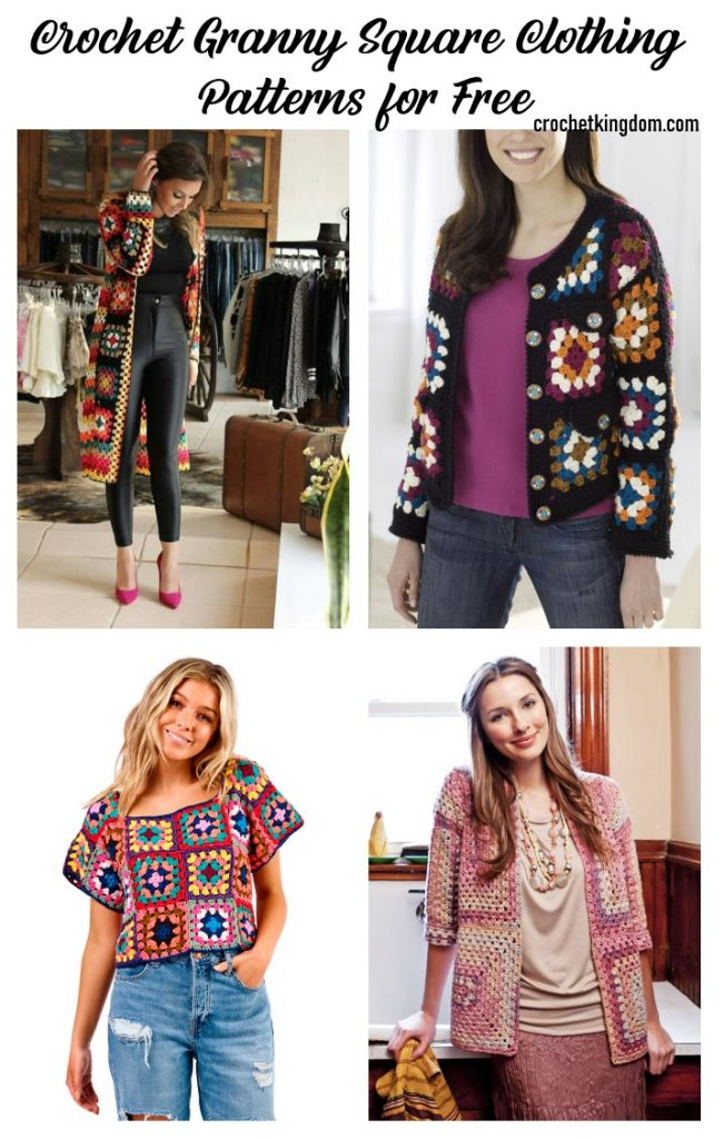 Best Crochet Granny Square Clothing Patterns for Free