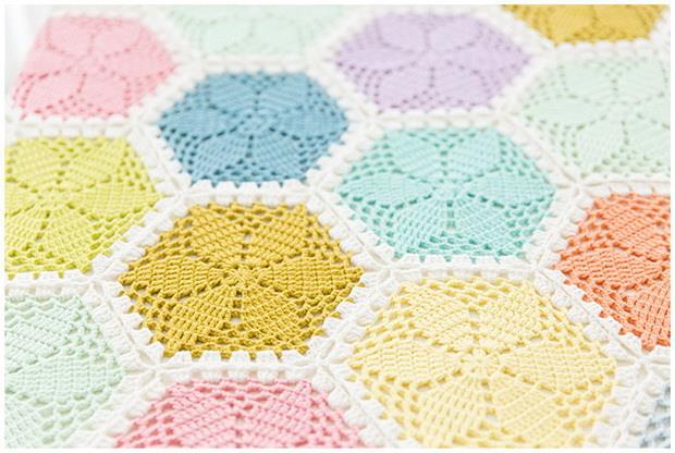 Crochet Pattern Of Flower Motif Blanket