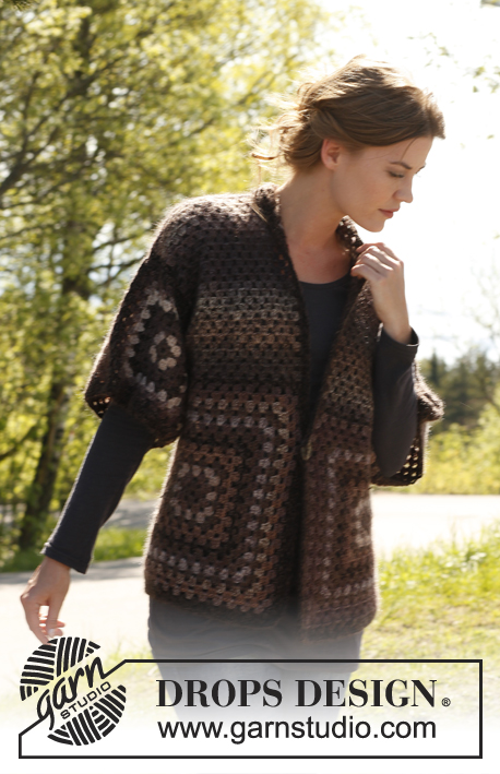 Crochet jacket with granny squares
