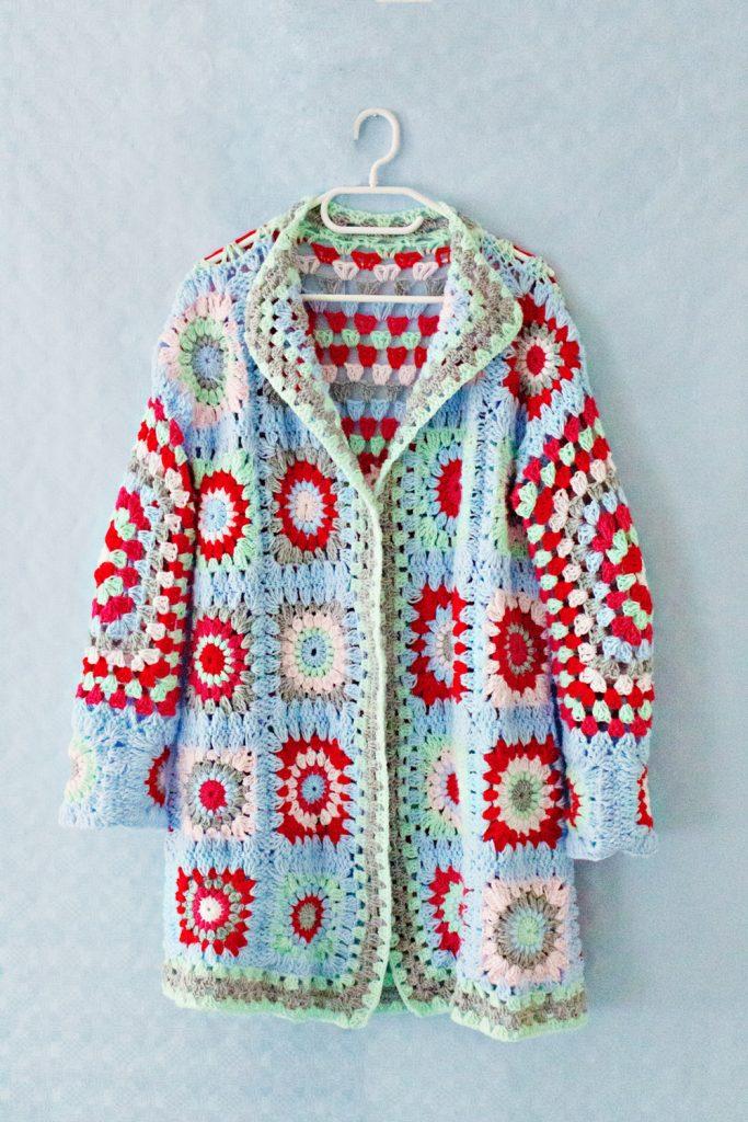 Crochet squares jacket pattern