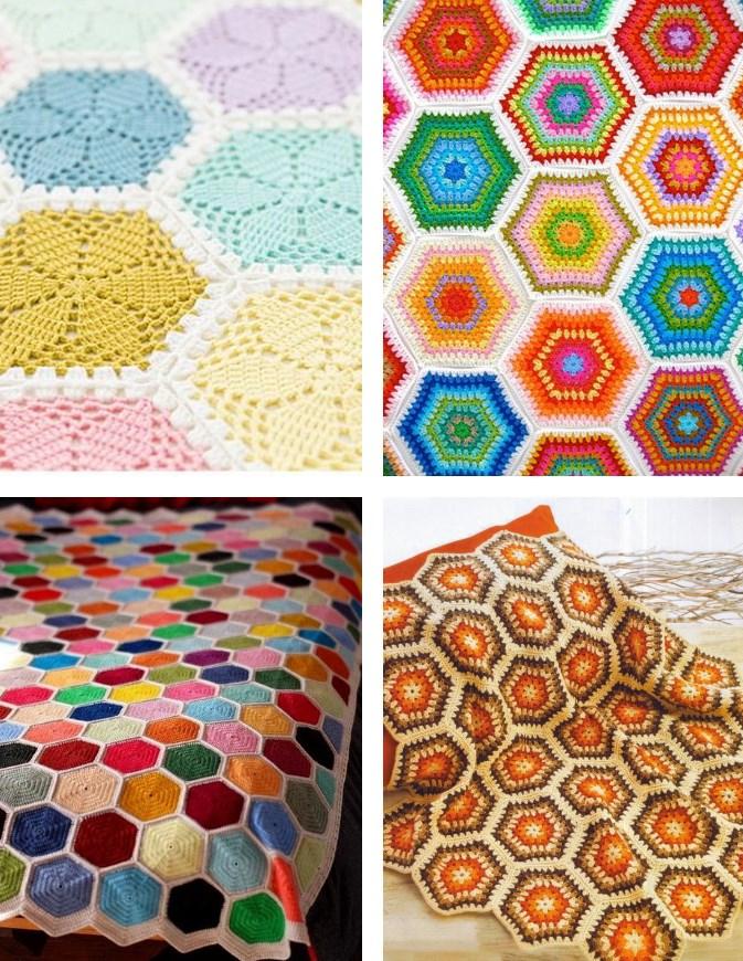 Free Crochet Hexagon Diagrams